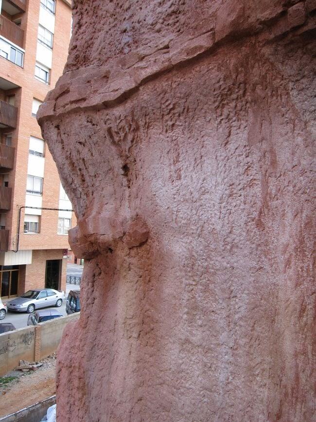 Mural realizado con mortero ESTone.tex
