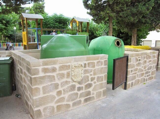cubrecontenedores de piedra artificial