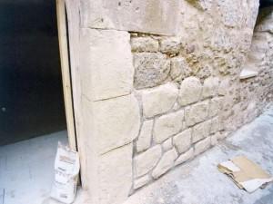 tallado de las piedras con mortero tixotropico