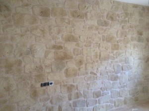 pared con mortero tematico