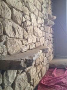 pared de mortero tixotropico