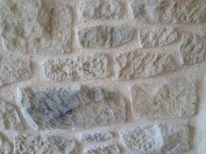 tallado con mortero piedra artificial