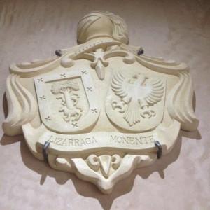 escudo heraldico para decoracion en bodega