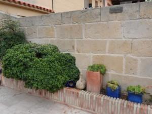 tematización de muros con mortero