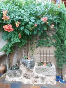 Pozas jardin de mortero