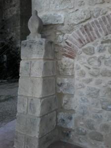 detalles de mortero en fachada