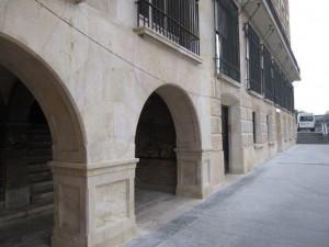 friso del edificio reconstruido