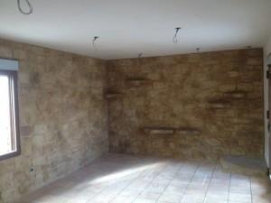 paredes dormitorio tematizacion piedra