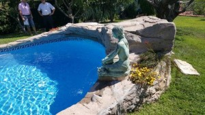cabezal de piscinas decoracion con mortero