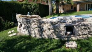 tematización con mortero tixotrópico o temático en piscina