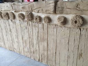 Maderos y troncos de mortero tematico